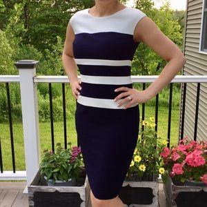 Ralph Lauren Navy And White Striped Dress